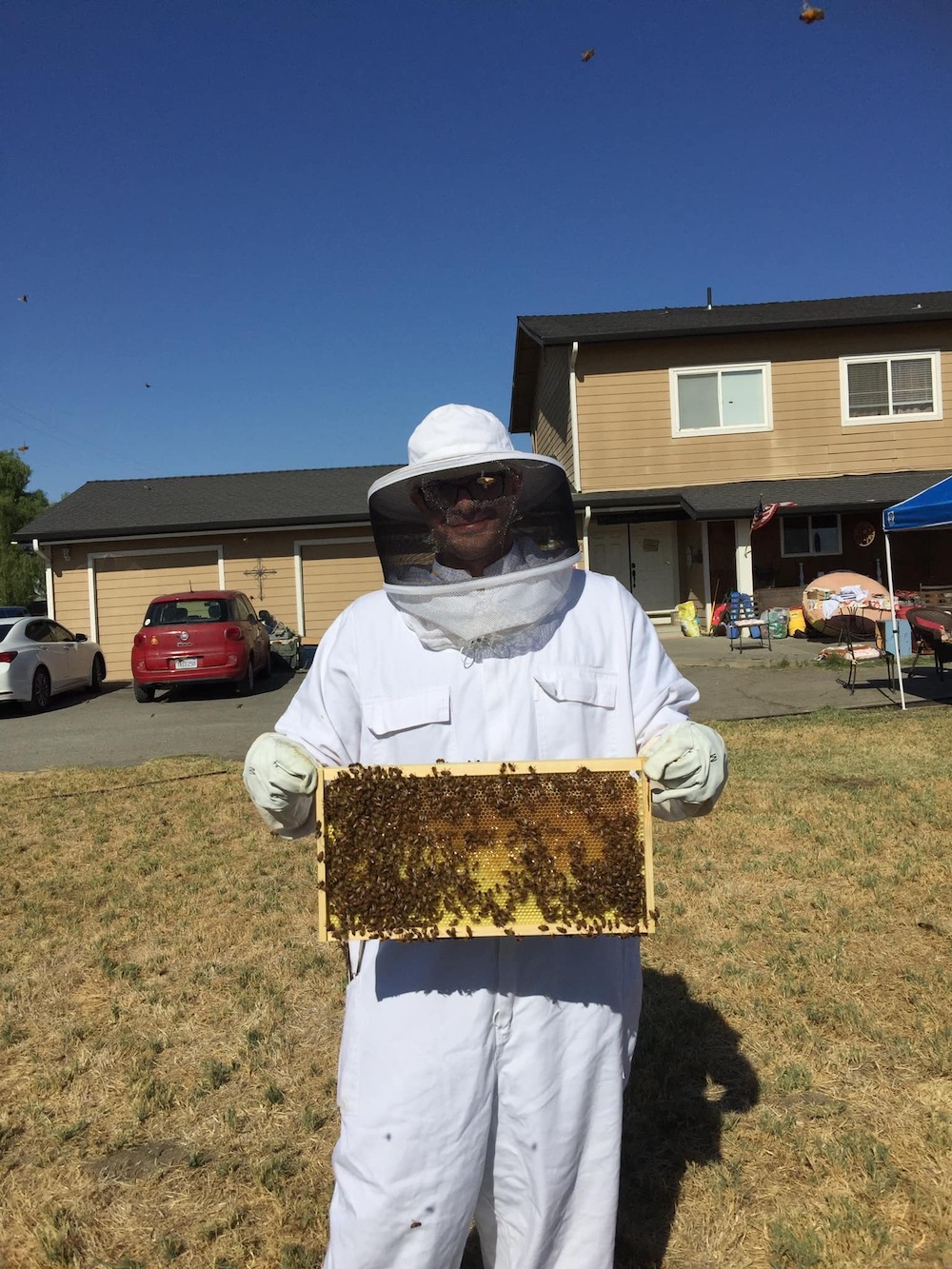 Bee Keeper at Loose Rooster Ranch